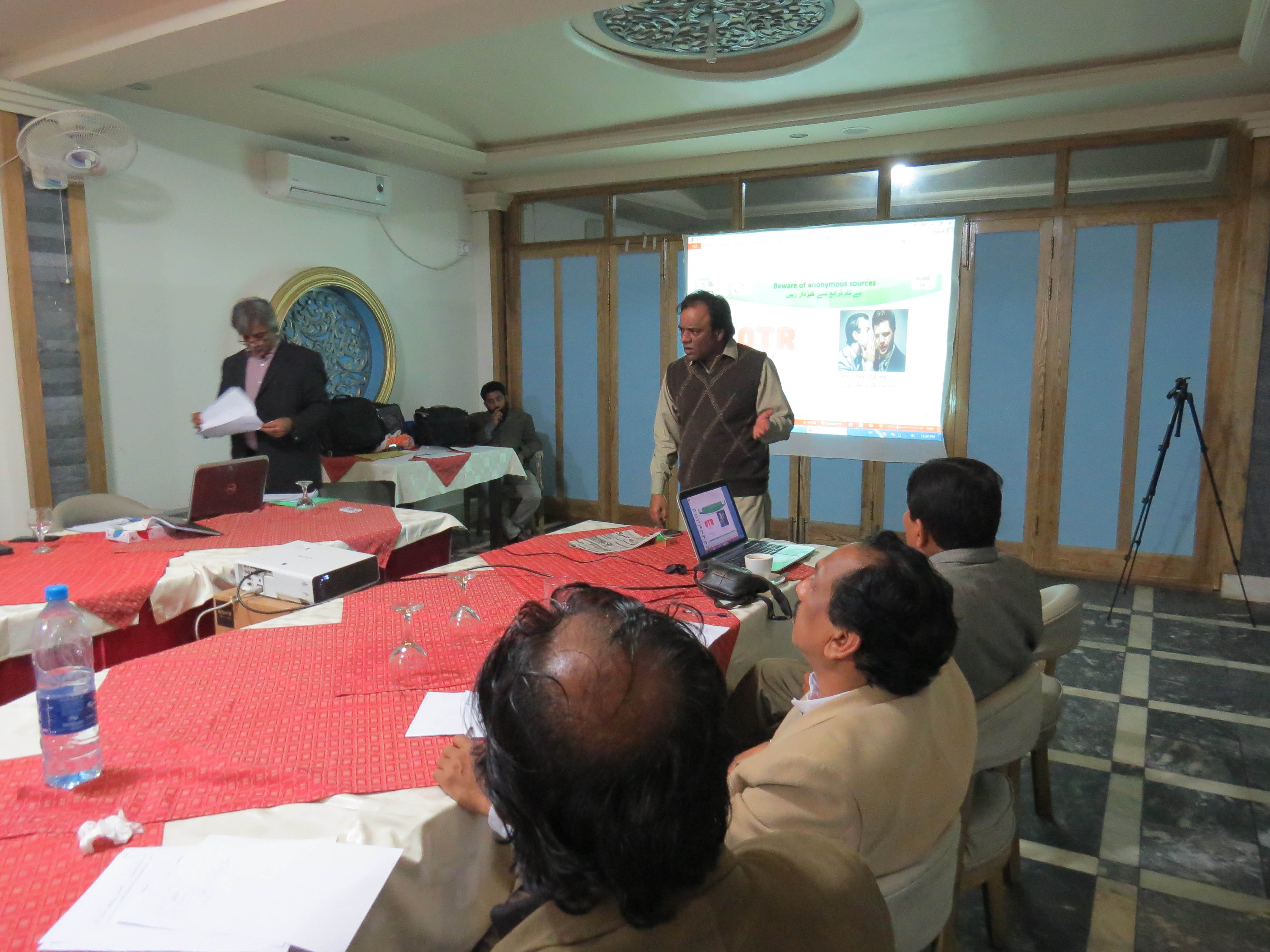 "Training Session for Journalists in Sargodha on ""News Accuracy"""