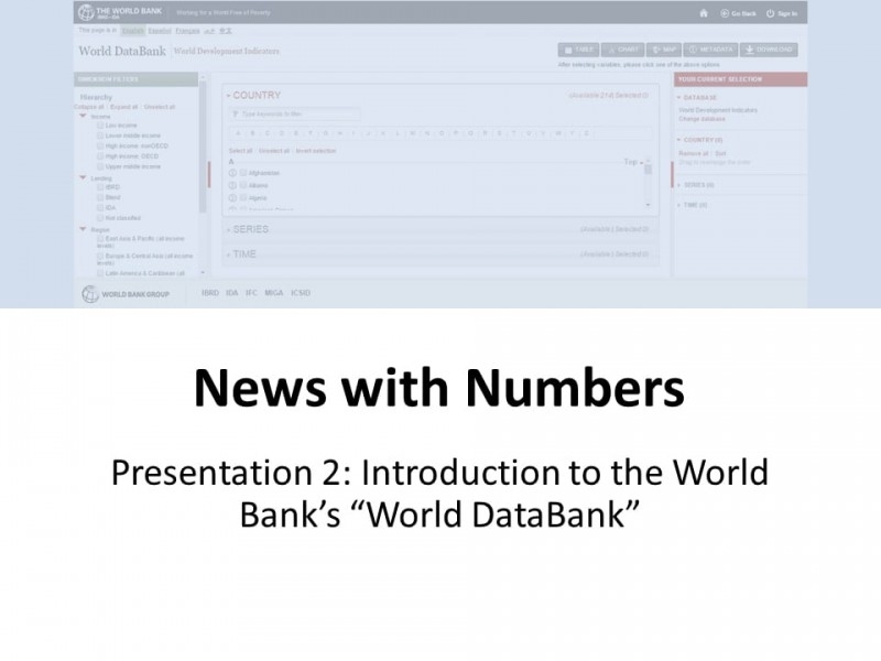 Introduction to the World Bank's World Databank
